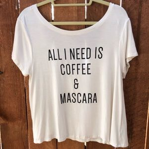 """Aerie """"Coffee & Mascara"""" T-Shirt"""